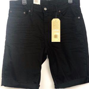LEVI'S 511 MEN'S SLIM CUTOFF SHORTS BLACK